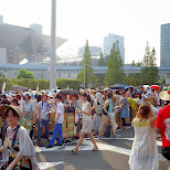 people sending back their packages at Comiket 84 - Tokyo Big Sight in Japan in Tokyo, Tokyo, Japan