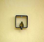 Janela - 8x8 cm - ferro e bronze