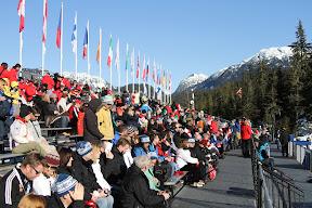 Grandstands at ski jumping