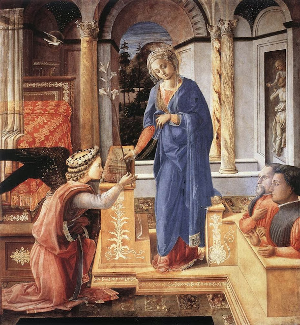 Filippino Lippi - Annunciation with two Kneeling Donors