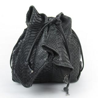 Carlos Falchi Python Bucket Bag
