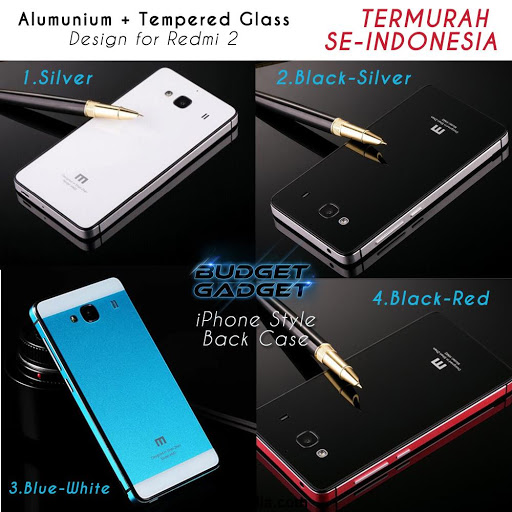 Aluminium Tempered Glass Hard Case for Xiaomi Redm