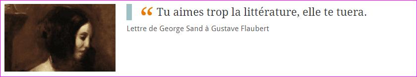 Lettre de George Sand à Gustave Flaubert