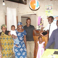 In Motto with Tambalu and family and church members turning on the solar light!