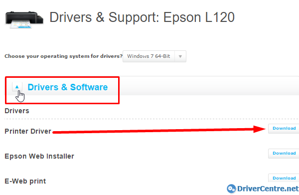 Click on Drivers and Software