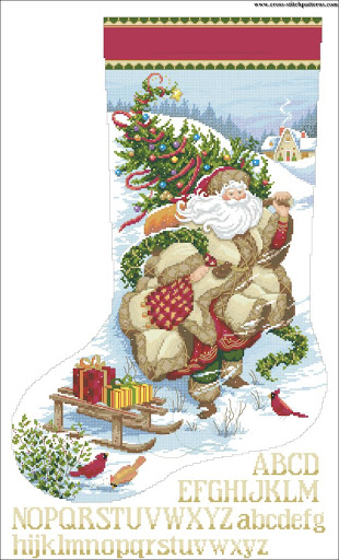 Santa Journey Stocking chart