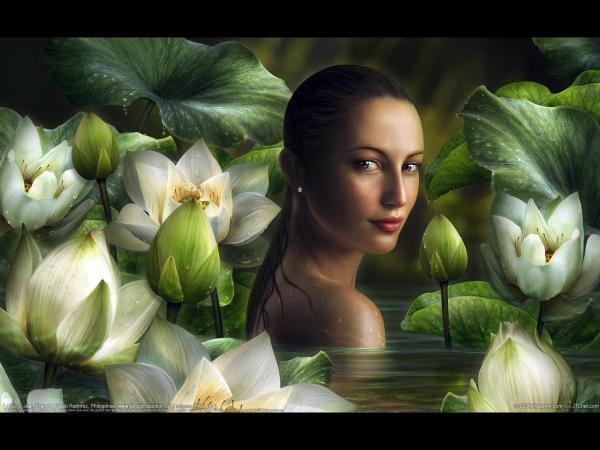 Girl Among The Lilies, Fairies 3