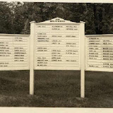 Our Boys in Service sign in Sylvan Lake during World War II