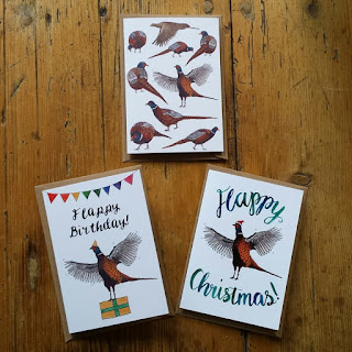 Pheasant Birthday and Christmas Cards by Alice Draws The Line