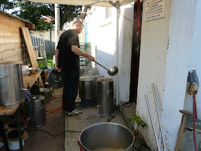 Photo: preparation du cafe