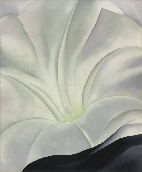 Georgia O'Keeffe - Morning Glory with Black
