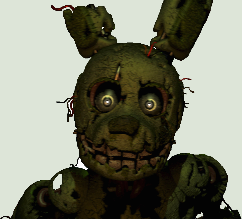 My springtrap suit from five nights at freddys gaming