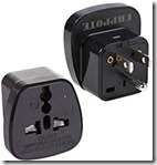 Grounded 3 pin UK EU to US Adaptors