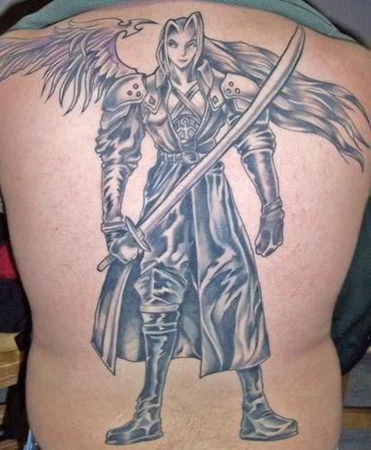 warrior angel tattoo
