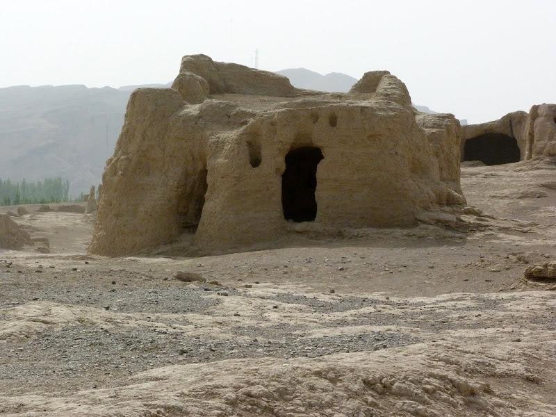 XINJIANG.  Turpan. Ancient city of Jiaohe, Flaming Mountains, Karez, Bezelik Thousand Budda caves - P1270822.JPG