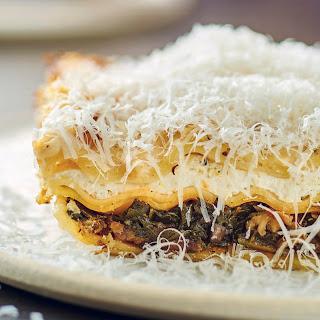 Kale and Mushroom Lasagna.