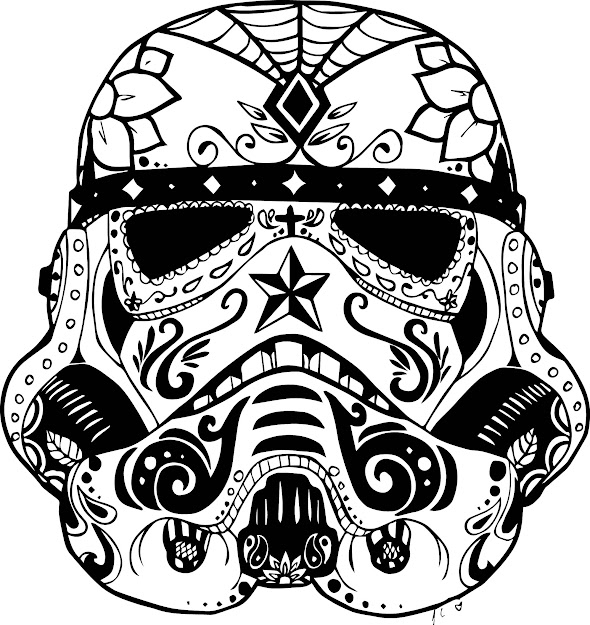Stormtroopersugarskullsugar Skull Animal Colouring Pages