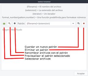 renombrar archivos en Linux. Uso.