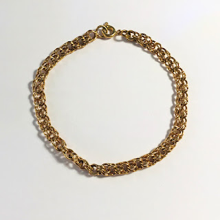 18K Gold Double Link Bracelet