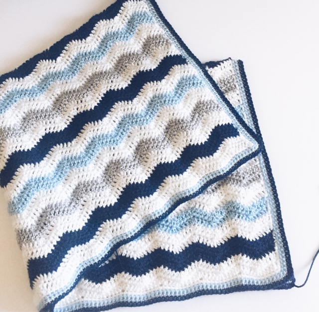 Crochet Ripple Baby Boy Blanket Daisy Farm Crafts