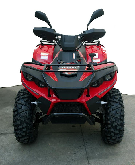 500 Linhai Yamaha ATV Farm 4x4 Quad Bike Red Front