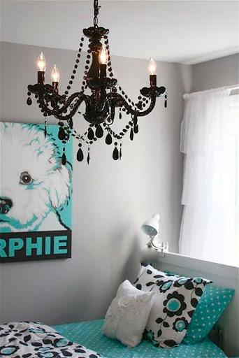 decoração-azul-turquesa-quarto-abrir-janela