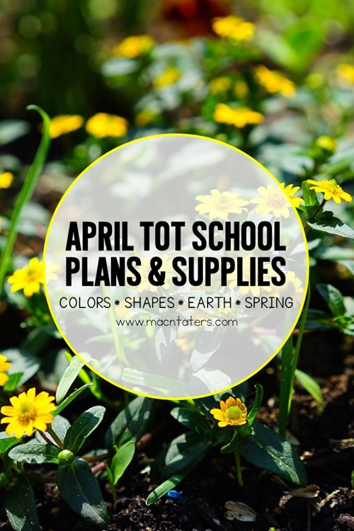 These April tot school curriculum plans will help you prepare for an entire month of learning fun with your littlest toddler. Themes and skills include colors, shapes, Earth (Land & Water) and Spring.There are many great toddler learning activities including fine motor activities, gross motor activities, crafts for kids, sensory activities, and fun food ideas. A supply list for the entire month is also included.