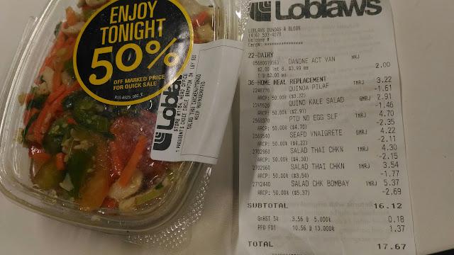 chicken thai and the receipt