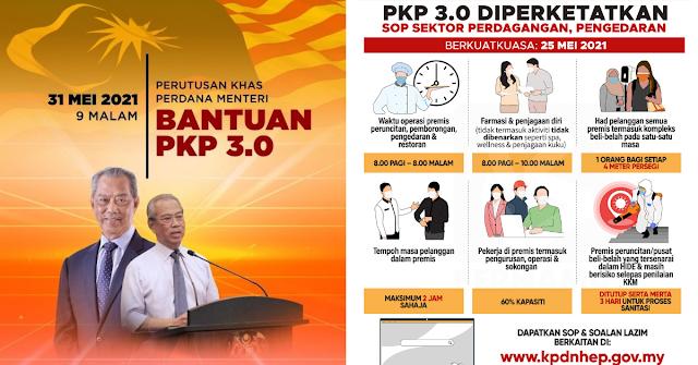 Senarai penuh bantuan tambahan kerajaan sempena Lockdown Malaysia