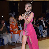OIC - ENTSIMAGES.COM - Sally Potterton - Violinist at the   Nina Naustdal - catwalk show  as Oslo born designer exhibits her aw 2015 couture - ss 2016 and childrens wear collections in collaboration with MTV Staying Alive Foundation in London 27th September 2015 Photo Mobis Photos/OIC 0203 174 1069