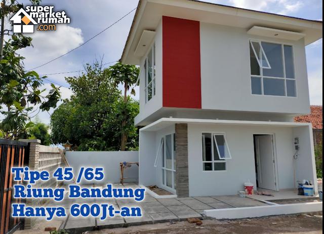 Dijual Rumah Di Sayap Soekarno Hatta Riung Bandung hanya 600Jt-an 2 Lantai