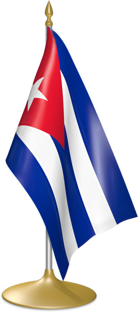 Cuban table flags - desk flags
