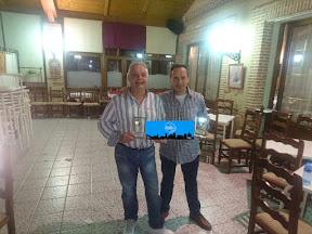 CARLOS FONTANEDA y JULIO FONTANEDA, Campeones del II CAMPEONATO DE MUS RESTAURANTE LA CHULETA