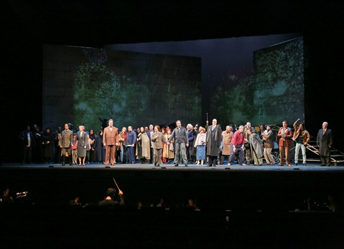 IN PERFORMANCE: The Company of Opera Carolina's production of Ludwig van Beethoven's FIDELIO, October 2015 [Photo by Jon Silla, © by Opera Carolina; used with permission]