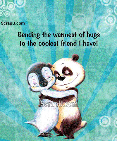 A silent hug means a thousand words Graphics