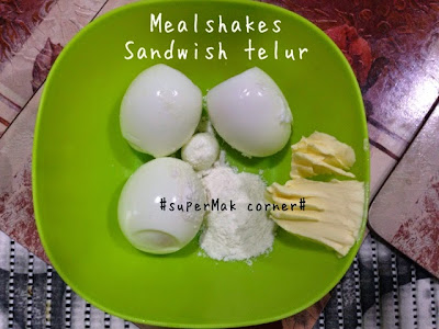 mealshakes, sandwish telur, sarapan