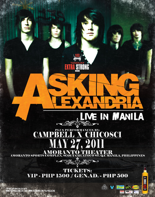 Asking_Alexandria_Live_in_Manila, ticket, poster, picture, calendar