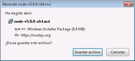 Instalar Node.js en un equipo Windows