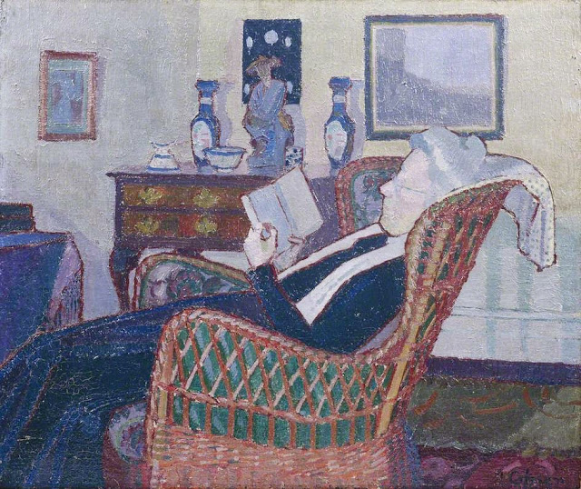 Harold Gilman - Interior with Artist's Mother