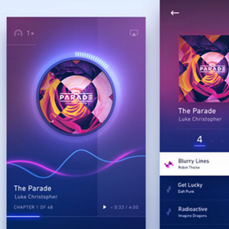 11 diseños de interfaces de usuario de reproductores de música