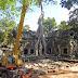 Restaurierung am Ta Phrom