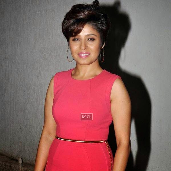 Sunidhi Chauhan at the wrap-party of Bollywood movie Mary Kom, held at Sanjay Leela Bhansali's residence on July 26, 2014.(Pic: Viral Bhayani)