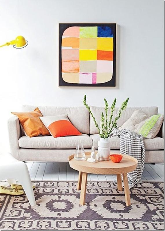 Arredamento casa vacanza in stile nordico con note di colore