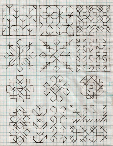 Holbein embroidery fill patterns