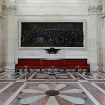 Assemblée nationale : salon Casimir Perrier, bas-relief du sculpteur Dalou représentant la séance du 23 juin 1789