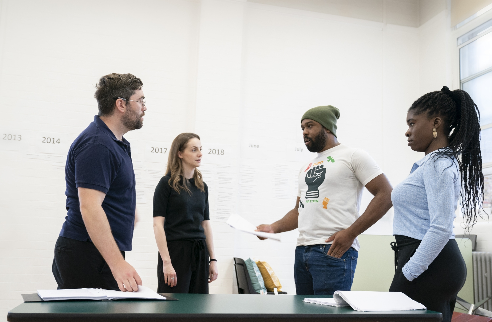 First Look: White Noise in rehearsals at the Bridge Theatre