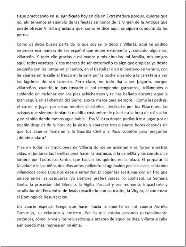 Pregón fiestas Villarta de los Montes 2016 - 2