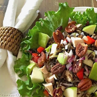 Healthy Wild Rice Chicken Salad.