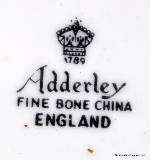 Adderley 1950s Backstamp