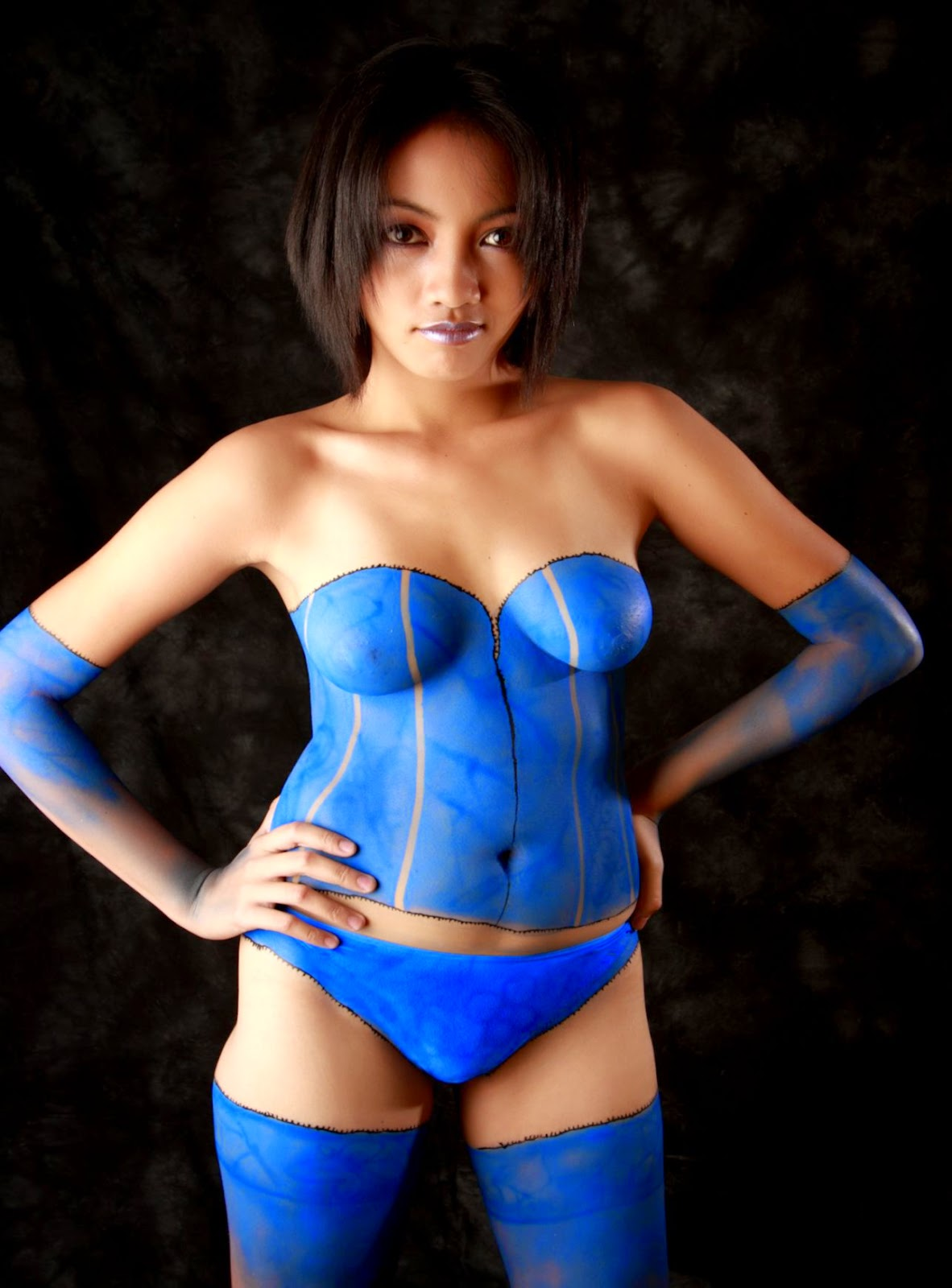 Brilliant Full body latex nude models